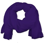 SS-31 | Women's Deep Purple Chiffon Scarf