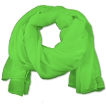 SS-39 | Women's Lime Green Chiffon Scarf