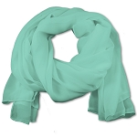 SS-661 | Women's Tiffany Blue Chiffon Scarf