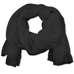 SS-90 | Women's Charcoal Gray Chiffon Scarf