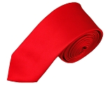 SK-01 | Solid Red Skinny Tie For Men