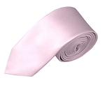 SK-17 | Solid Light Pink Skinny Tie For Men
