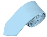 SK-26 | Solid Powder Blue Skinny Tie For Men