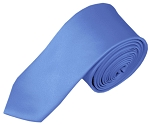 SK-30 | Solid Steel Blue Skinny Tie For Men