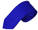SK-36 | Solid Royal Blue Skinny Tie For Men