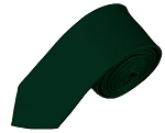 SK-37 | Solid Forest Green Skinny Tie For Men