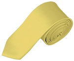 SK-45 | Solid Light Yellow Skinny Tie For Men