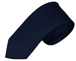 SK-53 | Solid Navy Blue Skinny Tie For Men