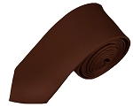 SK-55 | Solid Brown Skinny Tie For Men