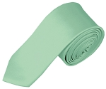 SK-66 | Solid Light Sage Green Skinny Tie For Men