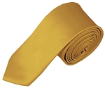 SK-75 | Solid Honey Gold Skinny Tie For Men