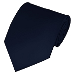 CVC-53 | NON-SHINY Solid Dark Navy Blue Men's Uniform Tie