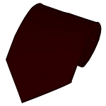 CVC-93 | NON-SHINY Solid Dark Maroon Men's Uniform Tie
