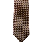K-09 | Honey Gold and Burgundy Satin Weave Woven Necktie