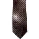 K-11| Honey Gold and Maroon Geometrical Woven Necktie