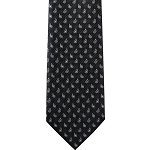 K-21| Silver and Black Paisley Woven Necktie