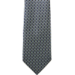 K-26| Light Yellow and Blue Multi Grid Woven Necktie