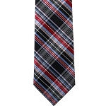K-35 | Red, Burgundy, and Steel Blue Scottish Plaid Woven Necktie
