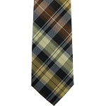 K-73| Honey Gold, Cream, and Cinnamon Vintage Plaid Woven Necktie