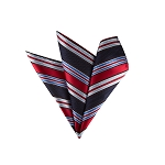 LH-04 | Red and Multi Blue Striped Woven Handkerchief