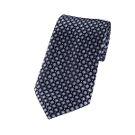 L-09 | Black and Metallic Blue Diamond Woven Necktie
