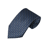 DL-42 | Multi-Tone Blue Geometric Pixel Pattern X-Long Woven Necktie