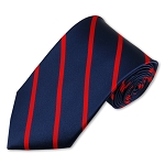 M-01 | Narrow Red Stripes on Navy Woven Necktie