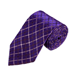 N-04 | Dark Purple, White and Black Plaid Woven Necktie