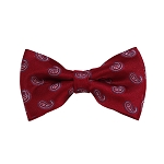 BD-01 | Grey, White And Red Paisley Woven Pre-Tied Bow Tie
