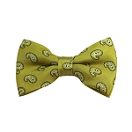 BD-02 | White And Mustard Yellow Paisley Woven Pre-Tied Bow Tie