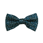 BD-06 | Turquoise, Oasis And Peacock Blue Paisley Woven Pre-Tied Bow Tie