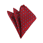 HD-07 | Grey, Black And Crimson Red Paisley Woven Handkerchief