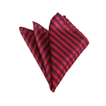 HD-17 | Red And Black Striped Woven Handkerchief