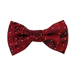 DB-01 | Pre-Tied Red, Black and Crimson Woven Paisley Bow Tie