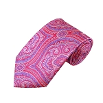 DT-07 | Pink, Fuchsia and Purple Woven Paisley Necktie