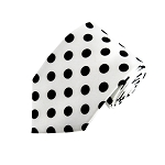 PDR-20 | White and Black Polkadot Printed Tie