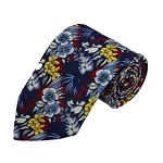 PD-02 | Floral Pattern On Red Men's Printed Design Necktie
