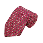PD-05 | Light Grey Elephant Pattern On Pink Men's Printed Design Necktie