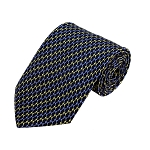 PD-07 | Light Blue/Yellow Arrow Pattern On Navy Men's Printed Design Necktie