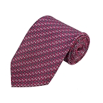 PD-08 | Grey/Off White Arrow Pattern On Pink Men's Printed Design Necktie