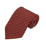 PD-09 | Yellow/White Arrow Pattern On Red Men's Printed Design Necktie