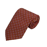 PD-17 | White/Orange Horseshow Pattern On Red Men's Printed Design Necktie