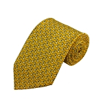PD-19 | White Dog Pattern On Yellow Men's Printed Design Necktie