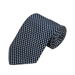 PD-20 | Steel Blue Small Rabbit Pattern On Navy Men's Printed Design Necktie