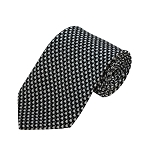 PD-21 | White Small Rabbit Pattern On Black Men's Printed Design Necktie