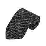 PD-26 | Cream/Grey Conservative Pattern On Black Men's Printed Design Necktie
