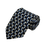 PD-28 | Cream Elephant W. Ball Pattern On Navy Men's Printed Design Necktie