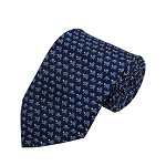 PD-34 | Steel Blue Turtle Pattern On Navy Men's Printed Design Necktie