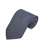 PD-43 | Grey Bowtie Pattern On Navy Men's Printed Design Necktie