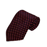 PD-47 | Red H Pattern On Navy Men's Printed Design Necktie